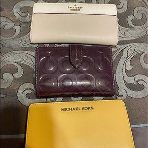 KS, coach, MK wallets